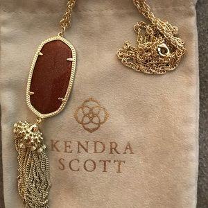 NWOT Kendra Scott Rayne Necklace Goldstone